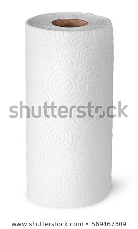 ペーパータオル · ロール · 紙 · 白 · ナプキン · 国内の - ストックフォト © ozaiachin