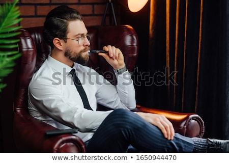 öregasszony · dohányzás · szivar · fotó · nő · hatvanas · évek - stock fotó © carlodapino