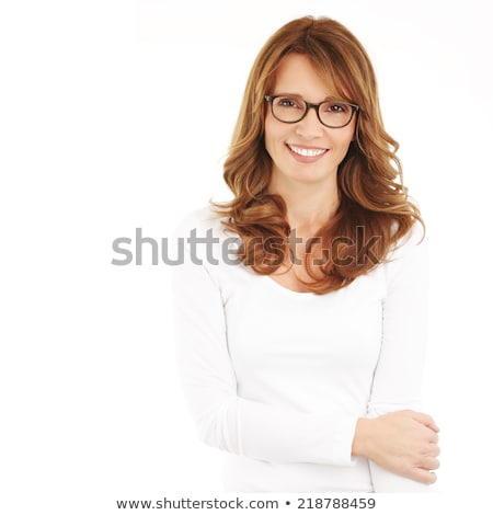 Attractive woman standing against a white background stock photo © wavebreak_media