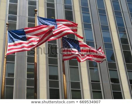 Bandera de Estados Unidos vuelo gobierno edificio columnas negocios Foto stock © HdcPhoto
