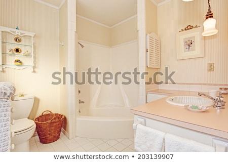 egyszerű · öreg · antik · fürdőszoba · szék · belső - stock fotó © iriana88w