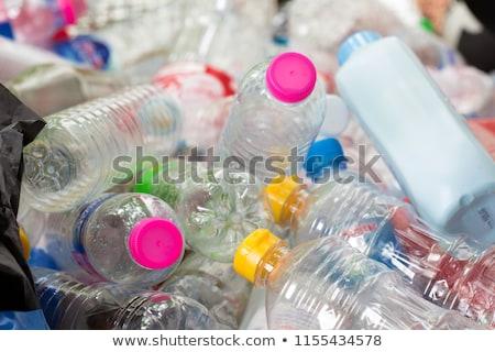 Plastik atık konteyner çim çöp geri dönüşüm Stok fotoğraf © cheyennezj