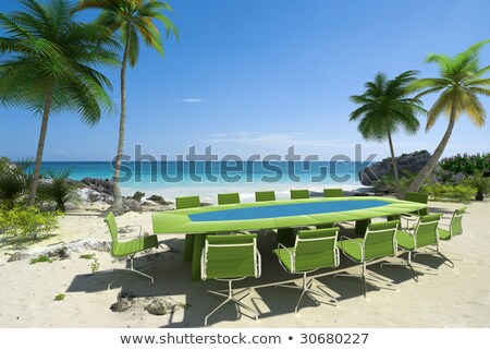 Spiaggia tropicale spiaggia riunione lavoro mare Foto d'archivio © dacasdo