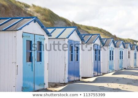 Dutch little houses on beach in De Koog Texel, The Netherlands Stock photo © gigra