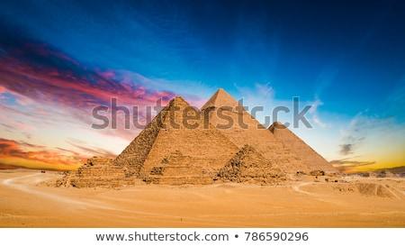 Mısır piramit kelime bulutu çöl savaş binalar Stok fotoğraf © Refugeek