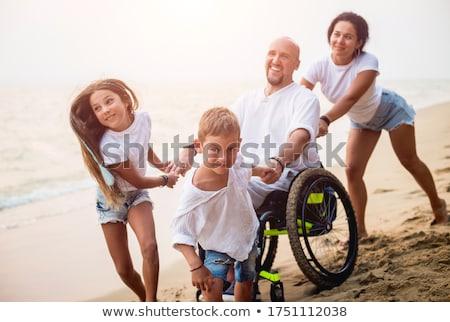 車いす ビーチ 空っぽ 海浜砂 海 ストックフォト © sframe