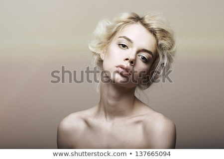Character. Individuality. Genuine Sentimental Blond Hair Woman Dreaming Stock photo © gromovataya