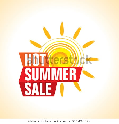 summer sale in label with sun Stock photo © marinini