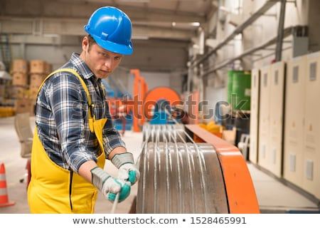 portrait of young man working electrical wiring indoors Stock photo © photography33