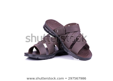 Leather sandals isolated on white background Stock photo © moses