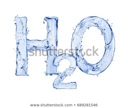 Без назвH2O Splash Water Formula isolated on a white backgroundания Stock photo © cookelma