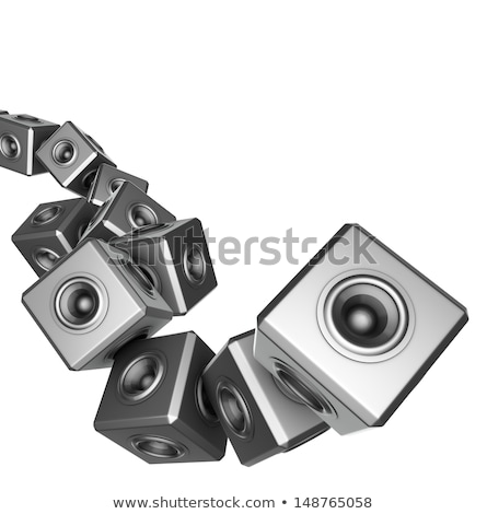 3d sound system woofer abstract dj deejay set  Stock photo © Melvin07