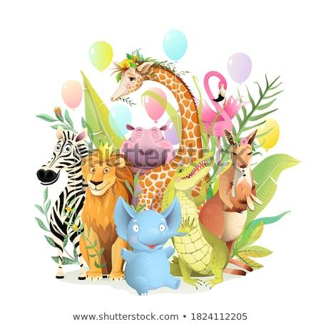 Suaygırı kutlama karikatür örnek vektör Stok fotoğraf © derocz