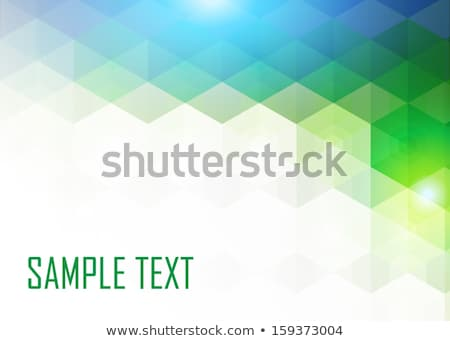 Green and blue colorful kaleidoscopic pattern. Stock photo © latent