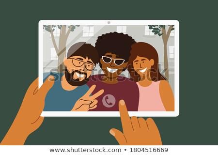 Men embracing technology Stock photo © photography33