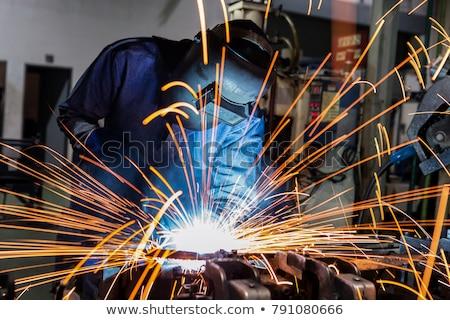 Saldatura luce tecnologia uomini lavoro macchina Foto d'archivio © reflex_safak