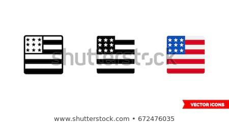 mapa · Estados · Unidos · américa · bandeira · mundo · viajar - foto stock © perysty