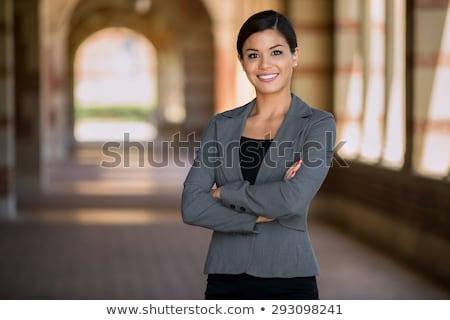 プロ · 混血 · 女性実業家 · 孤立した · 白 · ビジネス - ストックフォト © feverpitch