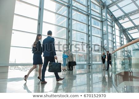 Modern ofis dizayn vermek bilgisayar duvar Stok fotoğraf © sedatseven