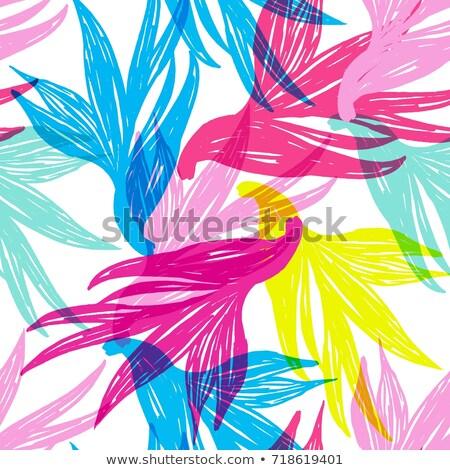 virágmintás · feketefehér · illusztrált · tinta · copy · space · absztrakt - stock fotó © nicemonkey