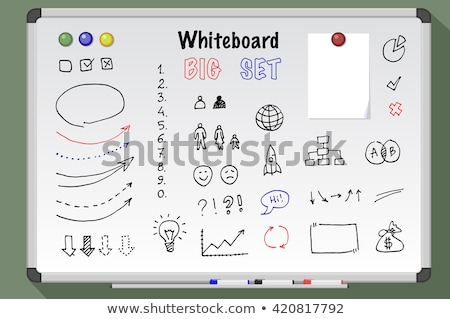 Big magnetic white board Stock photo © cherezoff