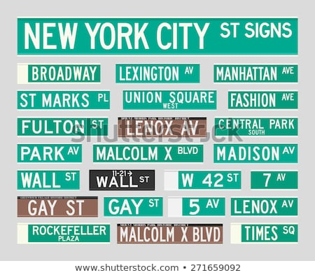 Times Square straat teken kruispunt straat New York City gebouw Stockfoto © franky242