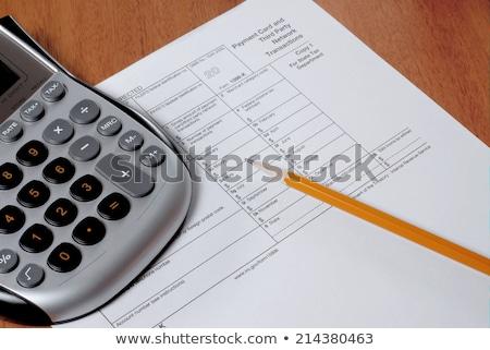 Extranjero ingresos impuesto forma EUA Foto stock © tab62