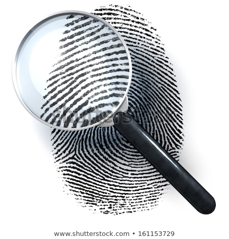 Fingerprints And Magnifying Glass Stock photo © cosma