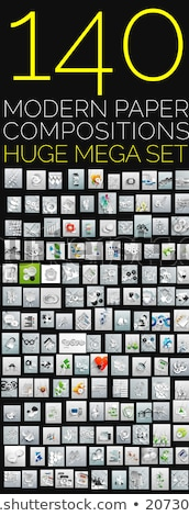 huge collection of trendy icons stock photo © hypnocreative