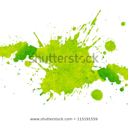 green paint splash design Stock photo © burakowski