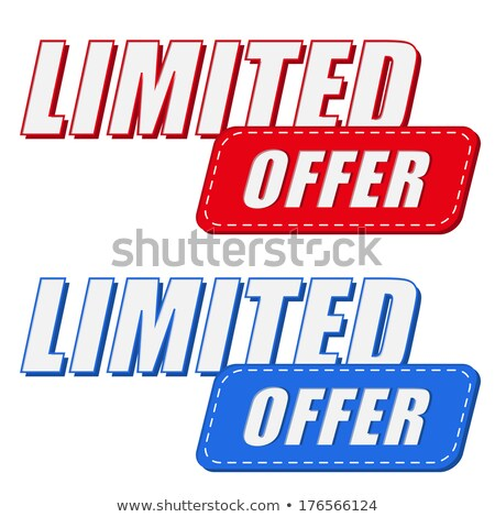 limited offer in two colors labels, flat design Stock photo © marinini