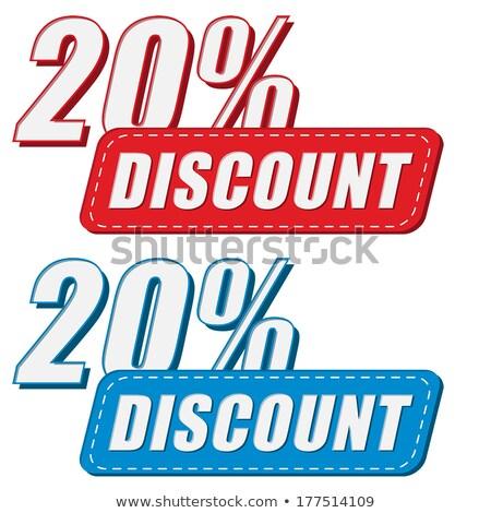 20 percentuali sconto due colori etichette Foto d'archivio © marinini