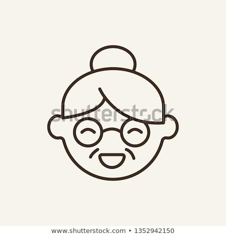 Granny icons stock photo © vectorpro