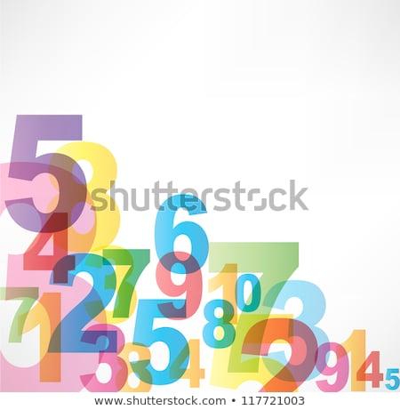 soyut · yedi · sekiz · dokuz · yeşil · sayılar - stok fotoğraf © burakowski