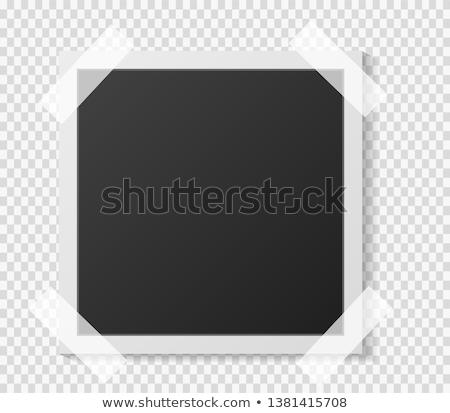 Grunge Polaroid vector marco oscuro Foto stock © Lizard