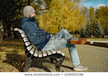 男 · 長い · 赤 · あごひげ · 座って - ストックフォト © feedough