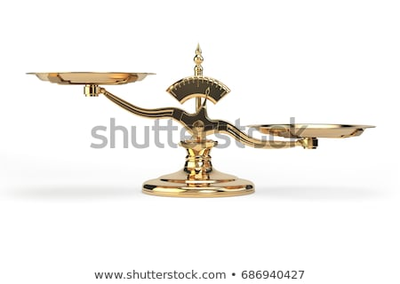 antique scale isolated on white Stock photo © scenery1