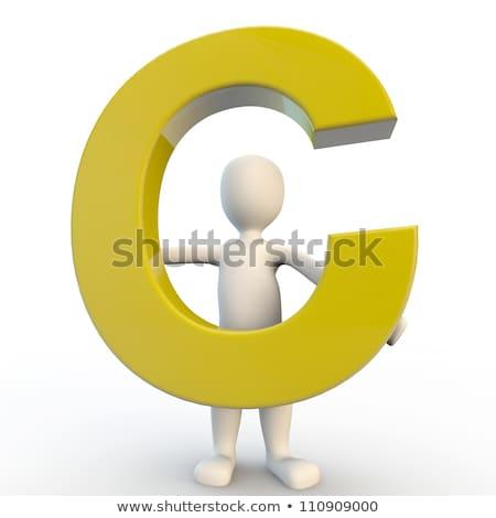 karakter · Geel · letter · d · 3d · render - stockfoto © giashpee