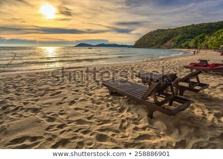 Ada gökyüzü doğa yaz okyanus kum Stok fotoğraf © meinzahn