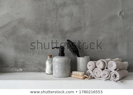 Fürdőszoba só izolált fehér egészség háttér Stock fotó © natika c4ab697d15