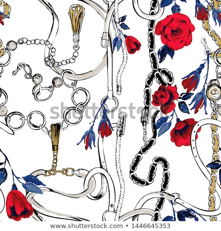 Abstract Painting with Fabric and Beads Stock photo © Kayco