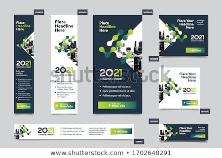 Absztrakt többszörös szórólap sablon üzlet vállalati Stock fotó © pathakdesigner