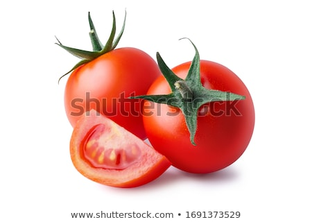 tres · frescos · tomates · cherry · superficial - foto stock © raphotos