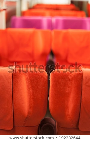 Interiors of a bus, Dinan, Cotes-D'Armor, Brittany, France Stock photo © bmonteny