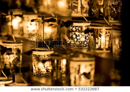 Christmas candle holder Stock photo © ondrej83