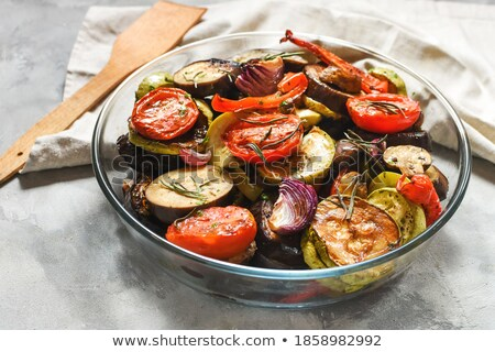Eggplants and Zucchini. Stock photo © karammiri