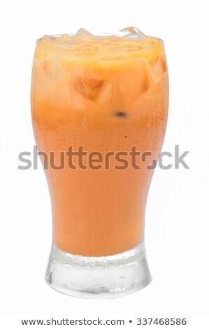 Ice tea makró üveg ital tea citrom Stock fotó © njnightsky