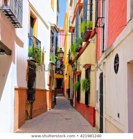 streets of sevilla spain stock photo © dermot68