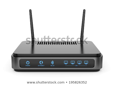Modernen Wireless wifi Router isoliert weiß Stock foto © simpson33
