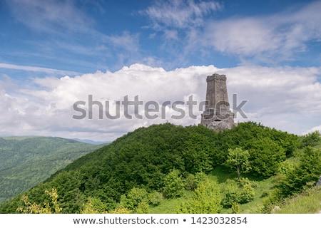 пейзаж гор морем горизонте небе Skyline Сток-фото © SRNR
